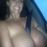 selfie in car huge boobs