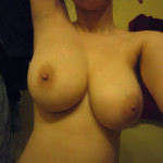 huge boobs in selfie