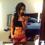 sexy selfie abs girl